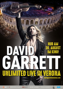 Plakat: DAVID GARRETT UNLIMITED - LIVE IN VERONA